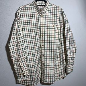 ORVIS Mens Large Square Pattern Button Down